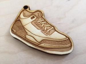 Wood Sneaker Keychain