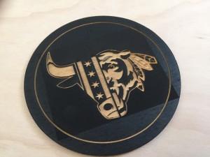 Chicago Sports Themed Wood Coaster (2 tone)
