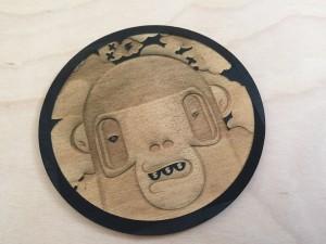 Artist Wood Coaster (2 tone)