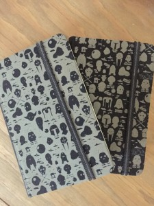 Custom Lasered Fabric Notebook Covers