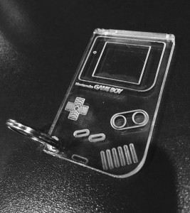 Clear Acrylic Game Boy Keychain