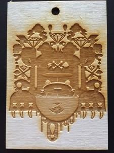 Custom Artist Wood Etched Print