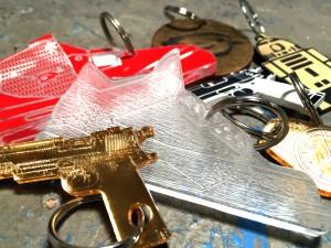 Custom Wood and Acrylic Keychains