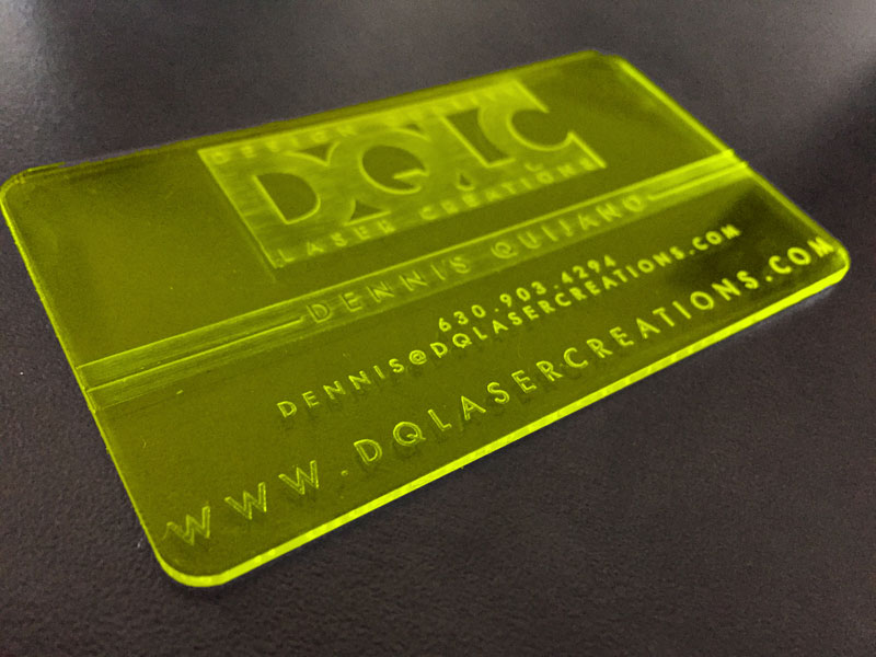 50 Colored Acrylic Business Cards |